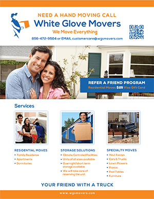 White Glove Movers Flyer